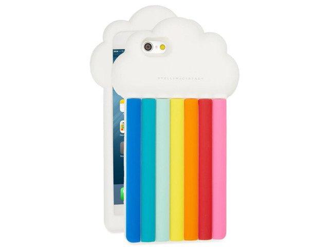CASE ETUI SILIKON iPhone 7PLUS TĘCZA CHMURA