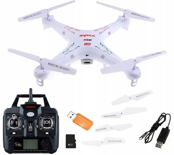 Dron Syma X5C Explorers Karta SD 360 Żyroskop Foto