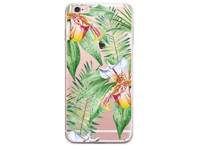 Etui Obudowa Futerał iPhone 6/6s Kwiaty Liście