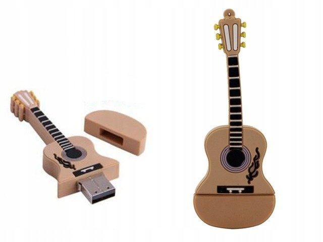 PENDRIVE GITARA Akustyczna MUZYKA USB PAMIĘĆ 64GB
