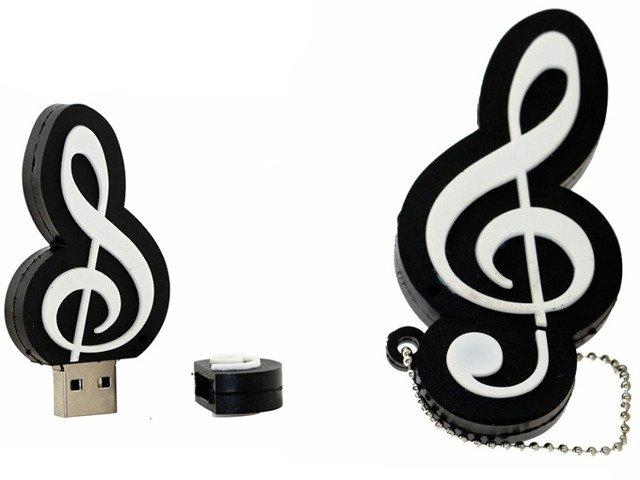 PENDRIVE KLUCZ WIOLINOWY MUZYKA USB PAMIĘĆ 32GB