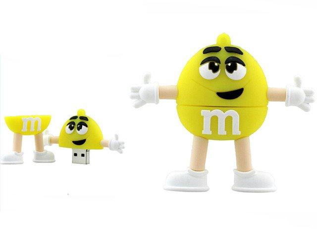 PENDRIVE ŻÓŁTY M&M's USB Flash Super Prezent